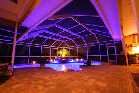 nebula rail lighting system for pool patio screen enclosures