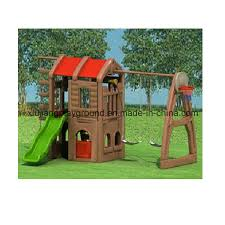 china kids outdoor playground plastic playhouse with slide and swing china outdoor playground slide and swing