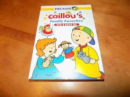 caillou caillou s family favorites pbs kids tv show cartoon dvd book set new