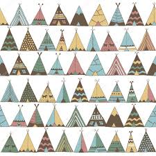 Teepee Pattern Classy Teepee Pattern Wigwam Native American Summer Tent Illustration