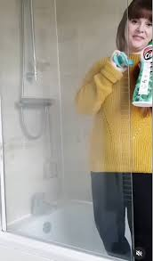 remove limescale from a shower screen