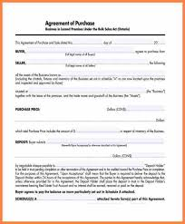 Purchase Agreement Small Business Template Business Purchase ...