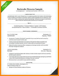 Best Bartender Resume Sample Example Of A Bartender Resume Bartender