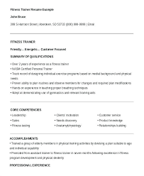Example Of Great Resumes Classy Personal Trainer Profile Template Pokemon Resume Example Corporate