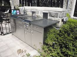 stainless steel outdoor kitchen. Stainless Steel Cabinetry For BBQ Area Grill Of Outdoor Kitchen. « Kitchen T