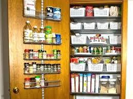 kitchen door storage racks over the baskets closet organizer doors cabinet