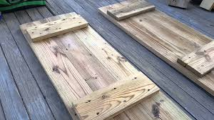 Make Your Own Shutters How To Make Window Shutters With Old Wood Planks Youtube