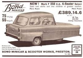 Image result for The Bond Minicar