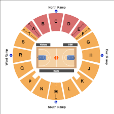 Reed Green Coliseum Seating Charts For All 2019 Events