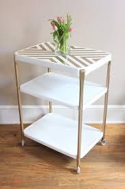 diy modern vintage furniture makeover. vintage metal rolling cart retro modern cosco refurbished bar with casters on etsy diy furniture makeover e