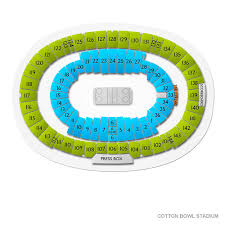 Ou Texas Seating Chart Cotton Bowl Stadium Tickets