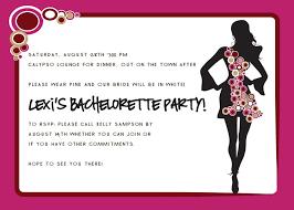 Bachelorette Party Invite Wording Party Invitation Collection