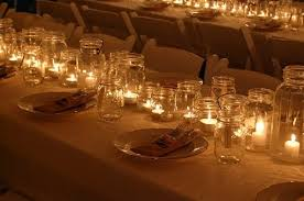 party lighting ideas. candles in jelly jars for party lighting ideas q