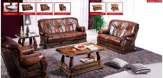 leather sofas with wood trim leather sofa with wood trim