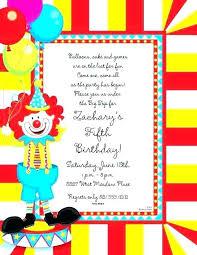 Carnival Themed Invitations Templates Carnival Birthday Invitations