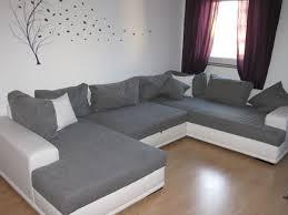 Wohnlandschaft Xl Couch U Form Weiß Grau Schl In 67346