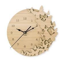 Flutter Butterflies Wooden Clock Idee D Co Pinterest