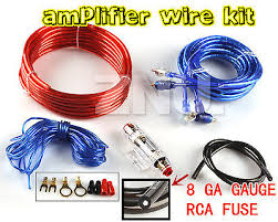 1500w car audio subwoofer sub amplifier amp wiring kit cable 8ga 1500w 8ga car audio subwoofer amplifier amp wiring rca aux ruse wires cable kit
