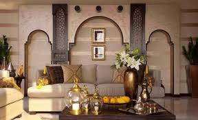 Arched Wall Decor Using Modern Arabian Home Decor For Small Family Room  Ideas