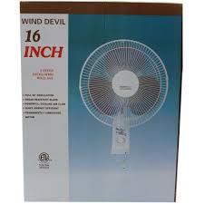 16 wall mounted oscillating fan wind devil