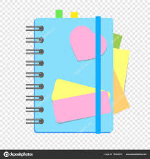 Colored Closed Notebook Spring Bookmarks Pages Simple Flat Vector