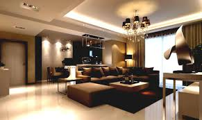 L Shaped Living Room Furniture Living Room Luxury Brown L Shaped Sofa In Leather Material With