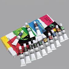 18 colors set artist drawing paint acrylic paint art supplies children paint tool canvas glass