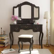 tribesigns vanity makeup table set french vintage vanity