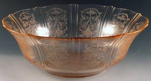 Pink Depression Glass Patterns Extraordinary Serving In Style American Sweetheart Depression Glass Pink Saturday