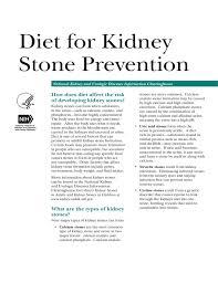 Kidney Stone Diet Chart Diet For Kidney Stone Prevention Free Download