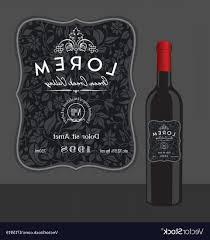 Decorative Wine Bottle Label Template Vector Cqrecords