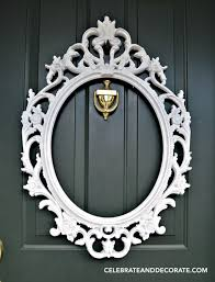make your own picture frame wreath for your front door