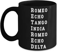 This is the phonetic alphabet used by the new york police department. Amazon Com Funny Retired Military Mug Nato Phonetic Alphabet Mug Retirement Gift Us Police Offer Armed Force Marine Navy Seal Air Force Black Coffee Cup Kitchen Dining