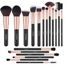 bestope makeup brushes 18 pcs makeup brush set premium synthetic foundation powder kabuki brushes concealers eye