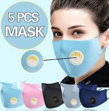 5PCS Outdoor <b>Dustproof Anti</b>-<b>Fog</b> Safety Protect <b>Face Mask</b> With ...
