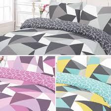 shapes geometric pattern duvet cover bedding set  ebay