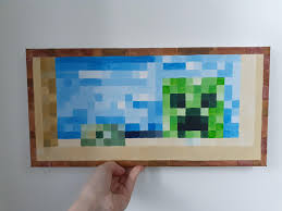 I painted a real life Minecraft creeper ...
