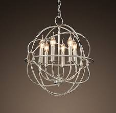 nice nickel orb chandelier foucaults iron orb chandelier polished nickel small dental