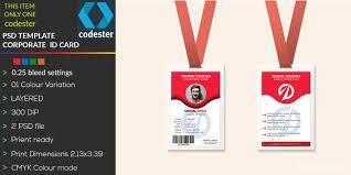 Company Id Card Template Simple Professional Id Card
