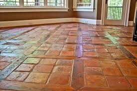 Antique Reclaimed French Terracotta Oak Floor Inlay mediterranean