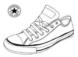 Jordan Shoes Coloring Sheets Shoe Color Page Converse Sneaker