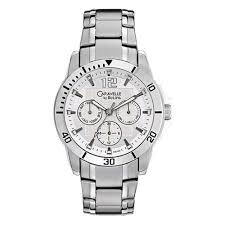 caravelle by bulova river fine jewelry buy engagement rings in caravelle by bulova men s 43c106 multifunction new sport watch