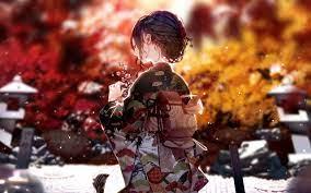 1280x800 Kimono Dress Anime Girl 4k ...