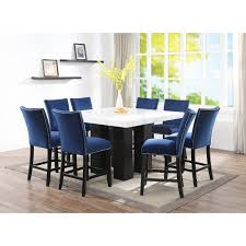 marble and black counter height dining table camila rc willey furniture