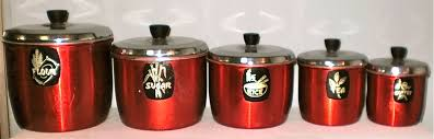 red kitchen canister sets ceramic designs the new way home decor red kitchen canisters in vintage style
