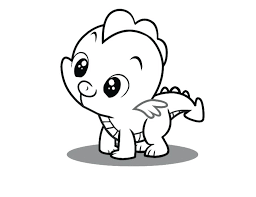 pony printouts print young spike the dragon my little pony coloring pages or young spike the