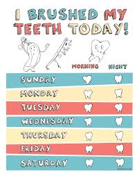 Teeth Brushing Chart Tooth Brushing Chart