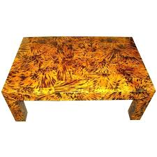 lacquered faux tortoise shell coffee table turtle top for sea glass