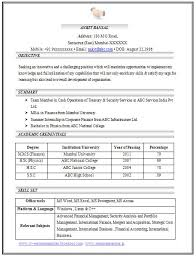 Collection Of Solutions Curriculum Vitae Sample Pdf Format