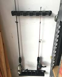 fishing pole wall racks 6 rod vertical for mount holder outdoor garage at fishing pole